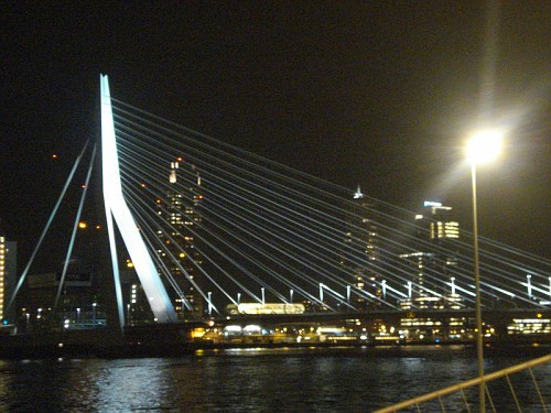 Rotterdam By Night in Bici