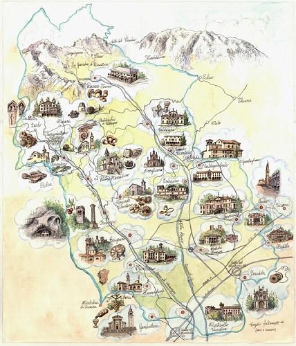 Cartina Valli Agno Chiampo