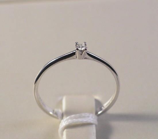 """Anello Solitario oro bianco e diamante 0,03 """"Comete ..."""