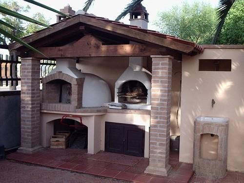 Forno e barbecue costa degli angeli bibos - Barbecue in muratura con forno ...